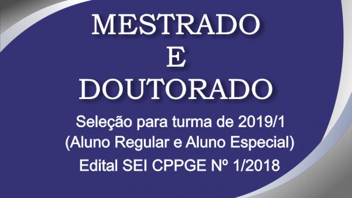 Processo Seletivo Turma 2019/1